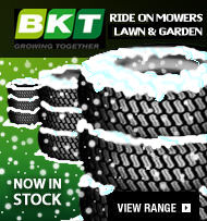 BKT Ride On Mower Tyres