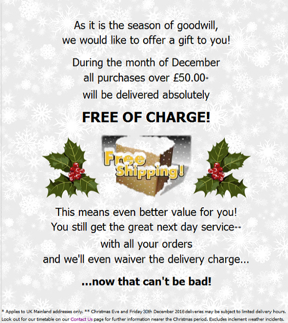 Free December Delivery