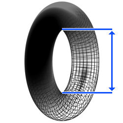 How to determine the rim size of a tube